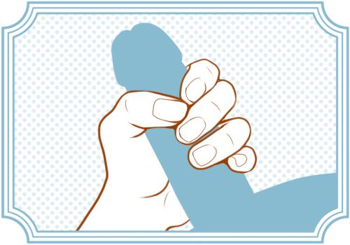 片手握りの手コキ