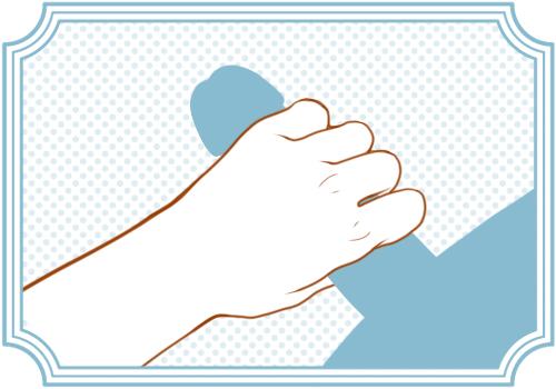 逆手握りの手コキ