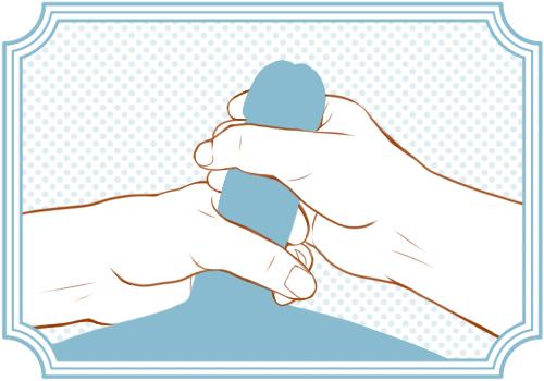 両手握りの手コキ