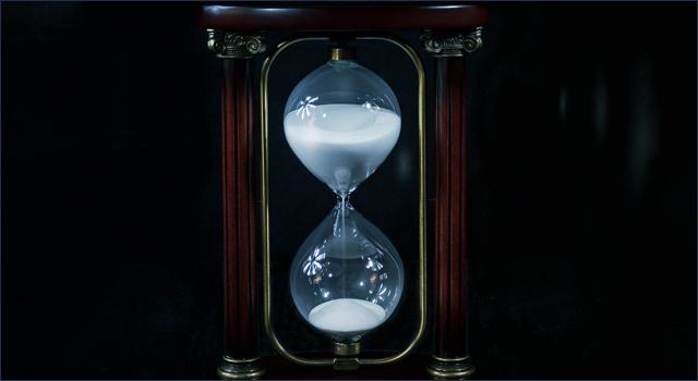風俗のロングコースを計る砂時計