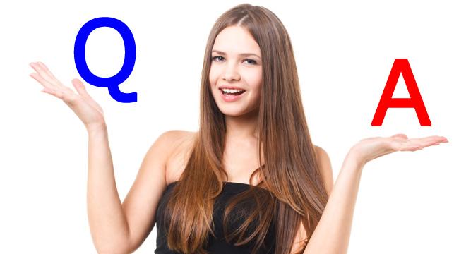 Q&Aにこたえる女性