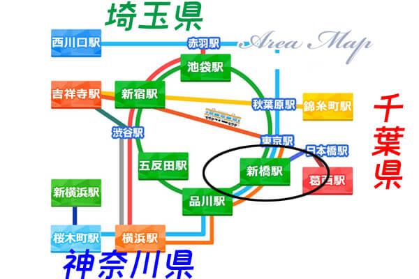 新橋マップ