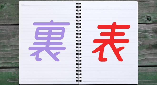 ノートの表裏