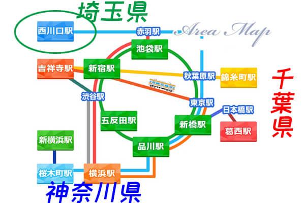 西川口マップ